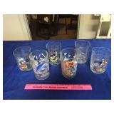 Assortment of Disney figure glasses (6)