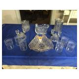 Candle holders, glasses, vases, & bowl