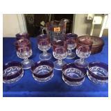 Assortment of Kings Crown glassware