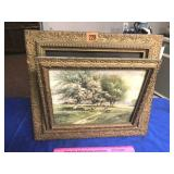 Antique swing-out picture frame 16 t x 18 w (no