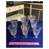 8 Fostoria glasses
