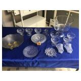 Assortment of dessert cups & other glassware