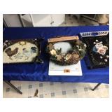 Trays, wreath & cutter board
