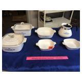 Assortment of Corning Ware items (6)