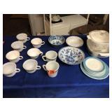 Assortment of cups, bowls, plates, & servers