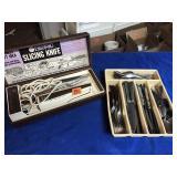 Slicing knife &  flatware