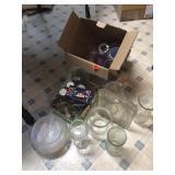 Box of vases & fish bowls