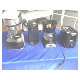 2 coffee pots, toaster, & can opener
