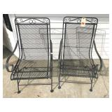 2 wrought iron chairs (spring rockers)