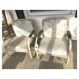 2 spring leaf patio chairs