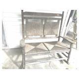 Double seat wicker patio rocker