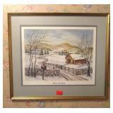 Nellie Meadows framed print - Winter Interlude