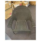 Brown Wicker Chair