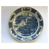 19th Century Chinese Blue and White Ceramic Plate