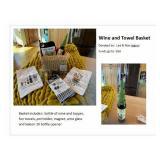 Wine and Towel Basket