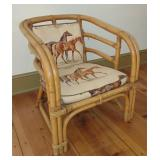 Kane Kraft Rattan Upholstered Chair - A