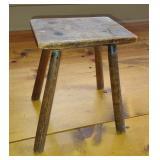 Primitive Antique Wooden Stool / Bench