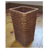Square Woven Wicker Basket / Bin
