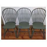 3 Painted Jordan Marsh Co. Chairs