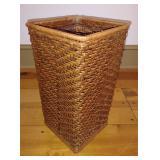 Wicker Weaved Square Basket / Bin