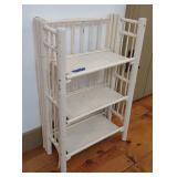 White Painted 3 Tier Folding Shelf