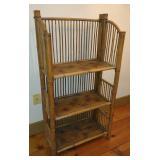 Vintage Folding Bamboo 3 Tier Shelf