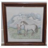 """Laurie Cumpston """"Dr Cook & Friend"""" Watercolor"""
