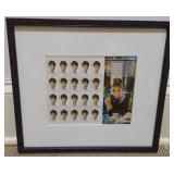 Audrey Hepburn Framed Postage Stamps