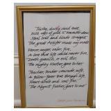 Robert Louis Stevenson Framed Art