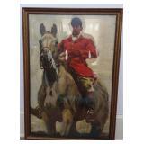 Framed Print of Jockey on Horse