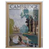 Framed Print of Cambridge Poster