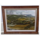 Framed Print of Fields & Farms