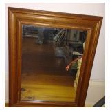 Wooden Framed Wall Mirror