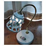 Capodimonte M. Moretto Signed lamp
