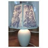 Porcelain White Urn Shaped Accent Lamp