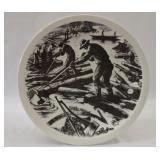 """Logging"" Wedgwood Clare Leighton Plate"