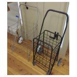 2 Collapsible Metal Shopping Carts