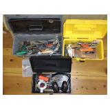3 Tool Boxes w/ Contents