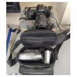 Canon EOS 630 & Canon Elura 60 Cameras w/ more