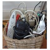 Basket of Extension Cords & Power Strips