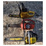 3 Short Gas & Electric Chainsaws