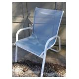 White & Blue Patio Chair