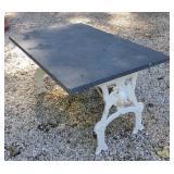 Cast Iron & Slate Garden End Table