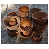 Large Collection of Terracotta Pots