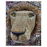 "15"" VINTAGE AFRICAN LION HEAD BUST"