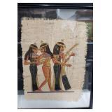 """21"""" Signed Vintage Egyptian Painting Set (framed)"""