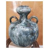 "26"" Vintage Moroccan Glazed Ceramic Vase 60-lbs"