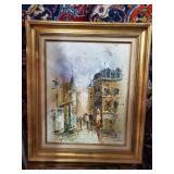 "26"" Vintage Signed European Oil Painting"