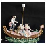 """27"""" Vintage Capodimonte Lamp (Stamped & Numbered)"""