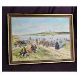 "28"" Vintage Original Russian Oil Painting"
